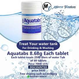 Swimming pool / water tank cleaning tablets