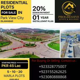 Plot for sale in Park view city