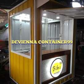 Container makanan korean food/bisnis usaha booth container custom