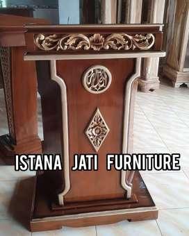 Pdoium mimbar masjid minimalis model terbaru ready stock