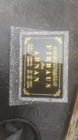 Batu nisan granit pecahan UK 20x30 cm