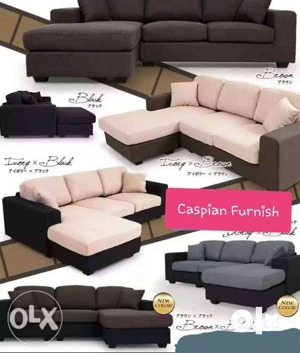 28 New Good Quality & many color options in L shape sofa 0