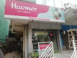 Running ice cream parlor setup on sale. Shop is on rent @45000