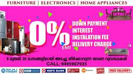 Furniture & Electronics on 0% EMI in PATTOOR on Free Delivery