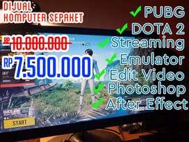 Komputer Intel Gen 8 (Gaming, Editing Foto dan Video, Game Streaming)