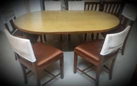 Dining table 6 seater (Teakwood)