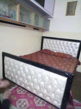 King size bed, Bartan almari,  Safe almari wooden , side table