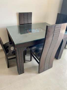 4 Dining  Chairs and Table, Price non negotiable