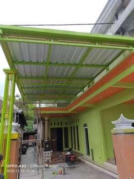 Kanopi minimalis pagar tralis railing tangga