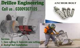 Rcc core cutting and Concrete cutting grooving and sawing services