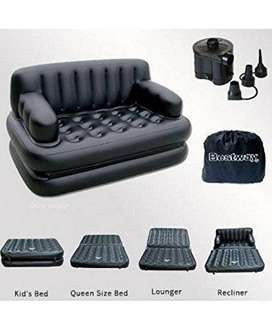 Air Sofa Cum Bed with Pump Lounge Couch Mattress ...