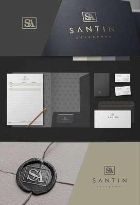 Logo Stationery Kemasan Brosur Design Kartu  12791