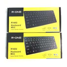 N E W R-ONE Keyboard Mini USB untuk Notebook/Netbook/Laptop/PC/HP