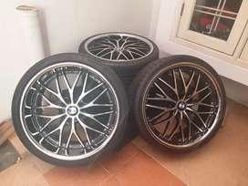 JUAL VELG + BAN BMW  KONDISI 95% 245/30 ZR 20 Sebanyak 1 Set