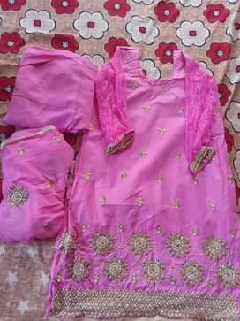 Pink coloured suit salwar fully new