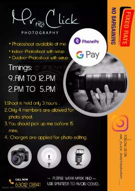 Camera available for photo shoot