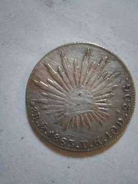 Jual koin kuno lama,tahun 1863
