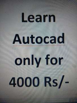 Learn AutoCAD only 4000 with professional working Environment.