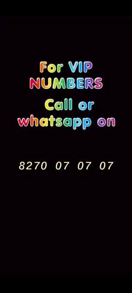Vip mobile numbers choice number easy number