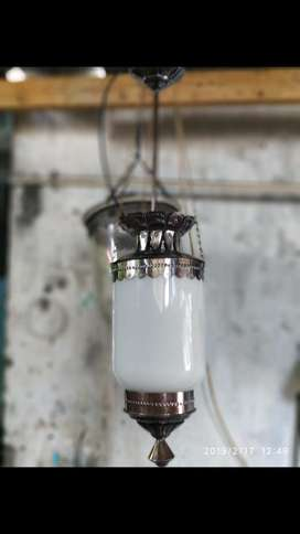Lampu gantung klasik antik kuningan asli dekorasi masjid joglo jawa