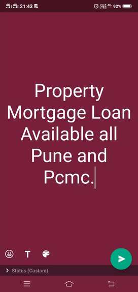 Property Mortgage Loan Available all Pune and Pcmc