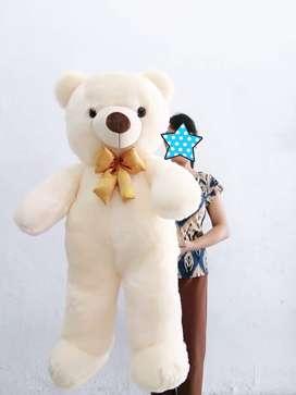 Teddy Bear Cream Ukuran 1 Meter - Boneka Teddy Bear Cream Jumbo