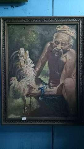 Lukisan Kakek Antik Sangat Langka