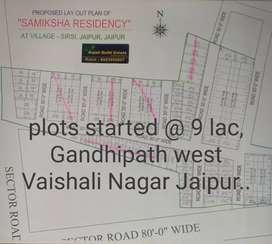 Plots in gandhipath west Vaishali Nagar Jaipur