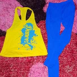 Baju olahraga 1 set zumba