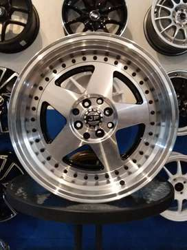 velg racing model jf ring17x7,5/8.5 pcd4x100/114.3 mobilio rs xenia
