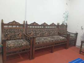 5 Seater wooden sofa for sale.
