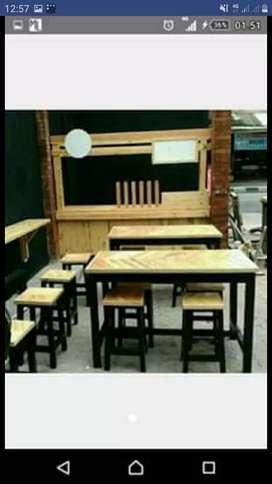Meja dan kursi Custom minimalis