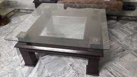 Glass Top Wooden Centre Tables