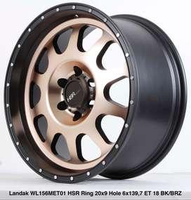 free ongkir LANDAK WL156MET01 HSR R20X9 H6X139,7 ET18 BK/BRONZE