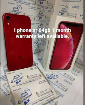 I phone xr 64gb used in warranty.