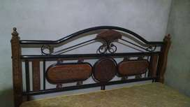 About 75% of the bed structure is made of iron. its double bed