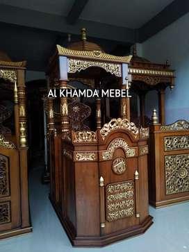 Terima Pesanan Mimbar Masjid Material Kayu Jati Berkualitas B54