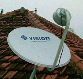 Pemasangan indovision Mnc Vision parbola resmi bergaransi proses cepat