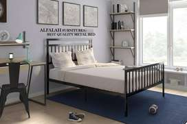 New Durable , Iron Steel Double Bed, side tables by ALFALAH FURNITURES