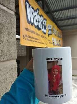 Mug Custom Satuan Free Desain / Gelas Foto