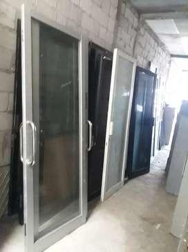 Pintu aluminium almini kaca
