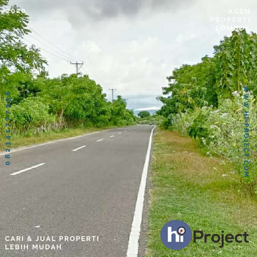 1,2 Hektar Tanah pinggir jalan di Samota Sumbawa T423 0