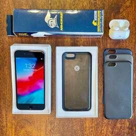 iPhone 6 16GB + Wireless Earphone+ Battery Case + Screen Film + Cases