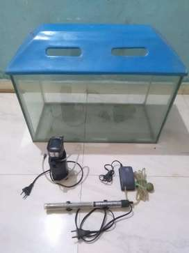 Fish Aquarium in Good very condition with branded Accessories 2ftx1ft