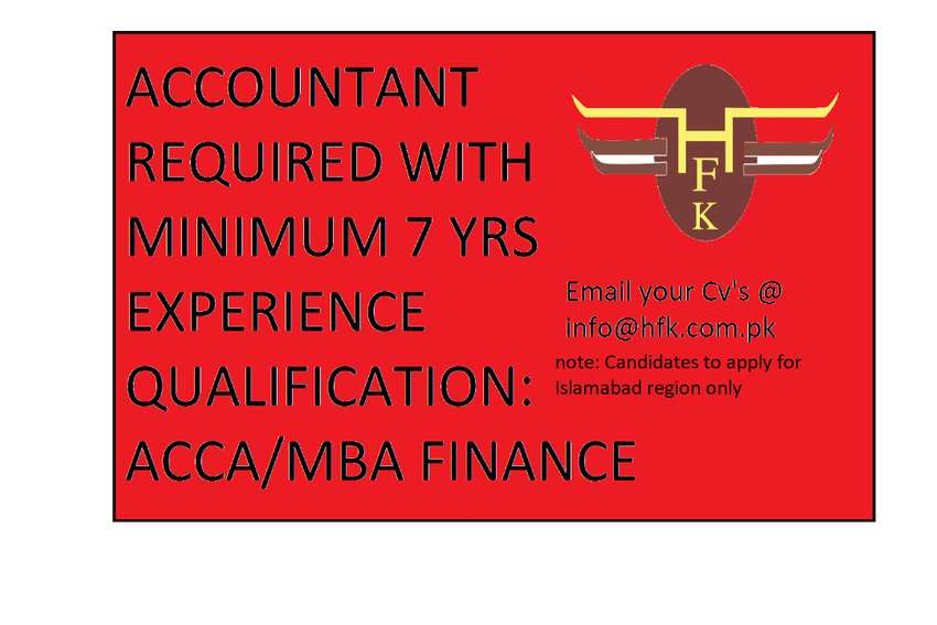 ACCOUNTS MANAGER REQUIRED 0