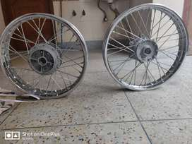 New rims and 2 MRF tubes for Royal Enfield Dual abs