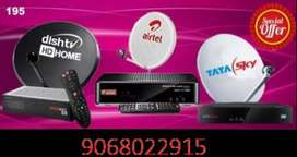 New Hd connection Airtal and Tata sky, dish TV, Videocon D2H