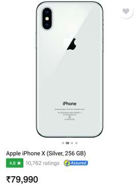 Iphone X 256 Gb 1 year No complaints charger box available