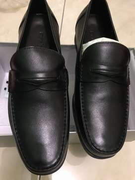 Sepatu Andrew Black Classic Loafer Leather