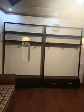Iron Rod clothing racks stands.